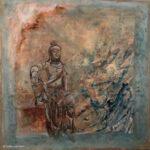 schilderijen - Titel-Bodhisattva-Avalokitesvara_acryl-en-stempel_80-x-80_-E285